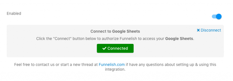 Connect Google Sheets