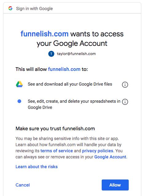 Allow Funnelish